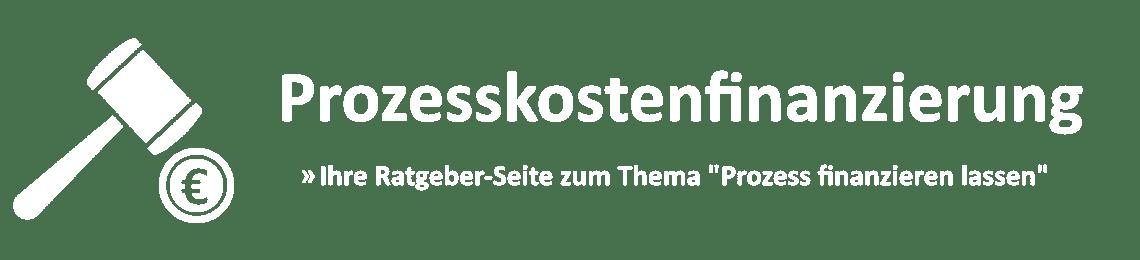 Logo Prozesskostenfinanzierung